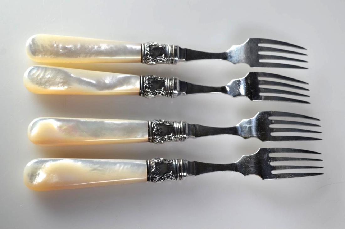 24 Sterling Aesthetic Movement 19C Knives & Forks - 10