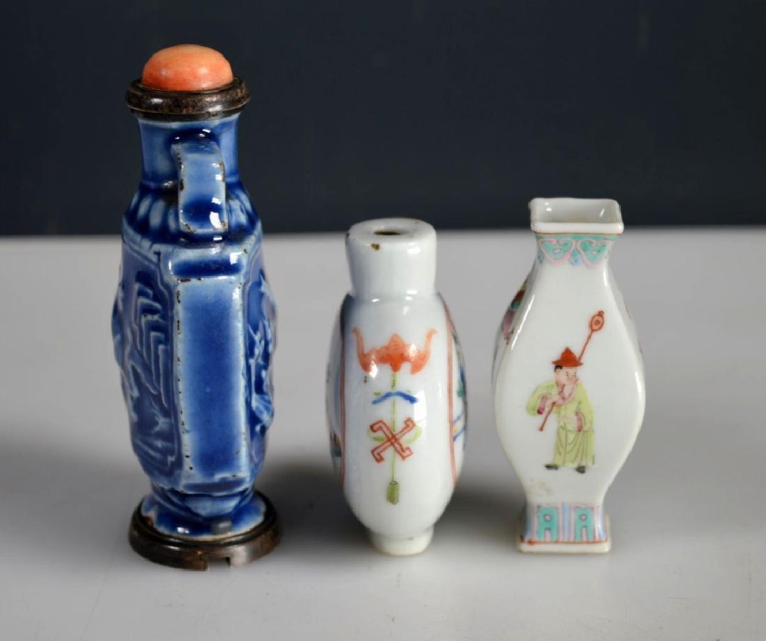 2 Antique Chinese Snuff Bottles; 1 Miniature Vase - 3