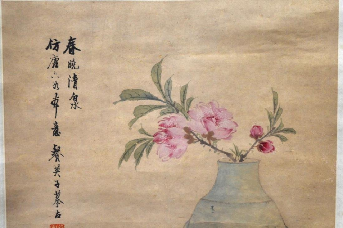 Chinese Ink Painting on Paper; Yixing Teapot - 3
