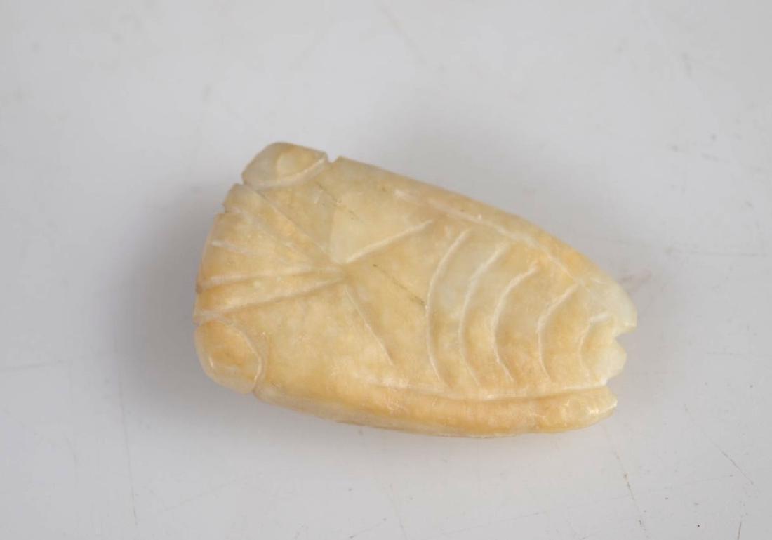 Miniature Chinese Jade Snuff; 2 Archaic Hardstones - 5