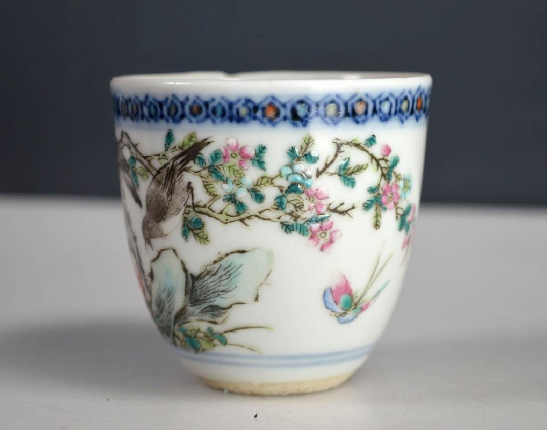 Late Qing Chinese Enameled Porcelain Teacup - 4