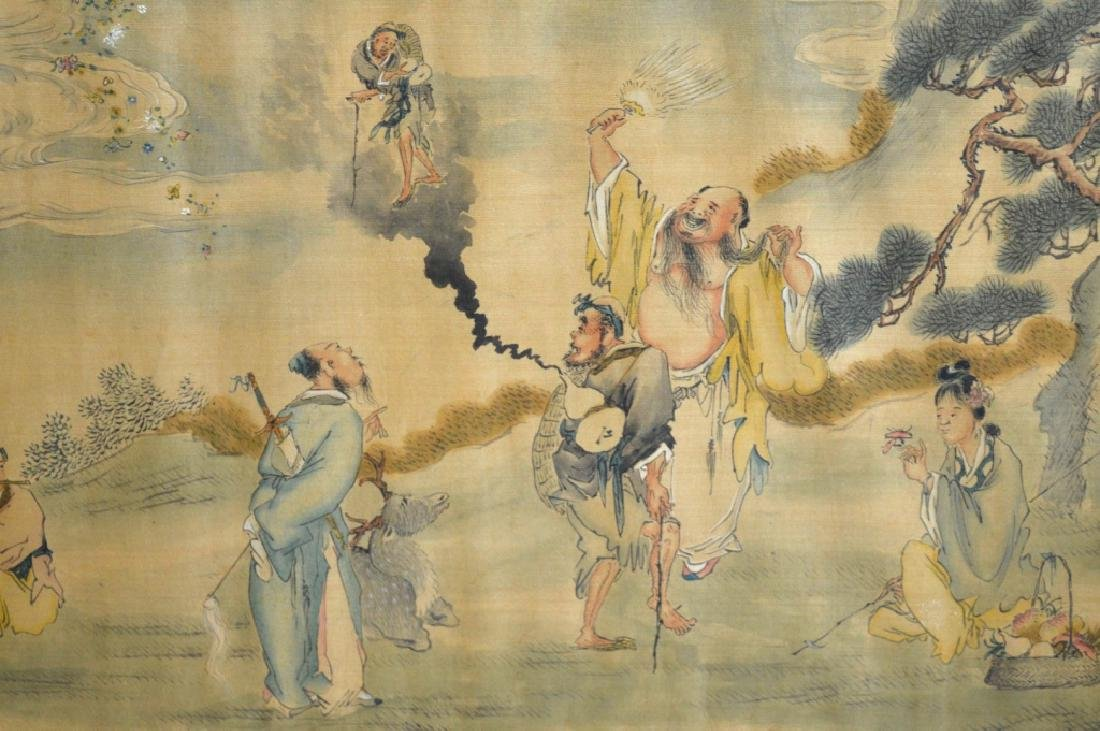 Chinese Painting on Silk of the 8 Immortals - 2
