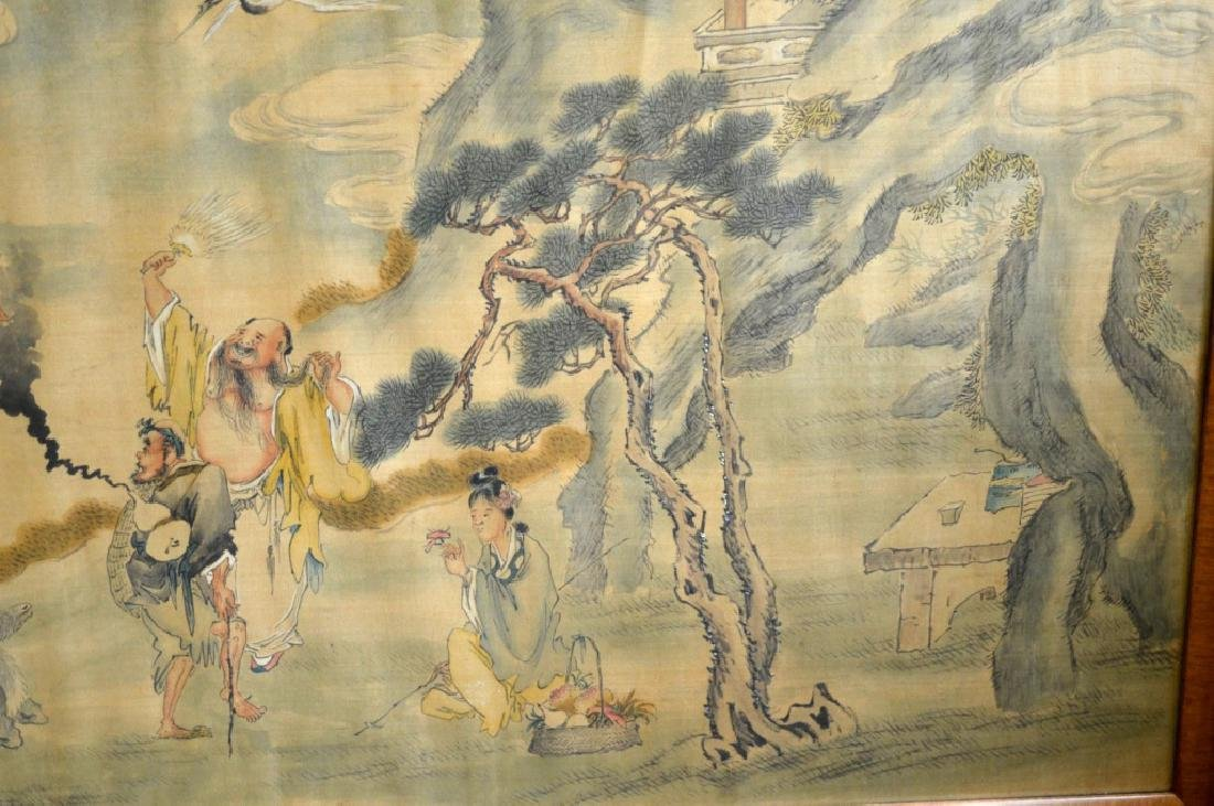 Chinese Painting on Silk of the 8 Immortals - 3