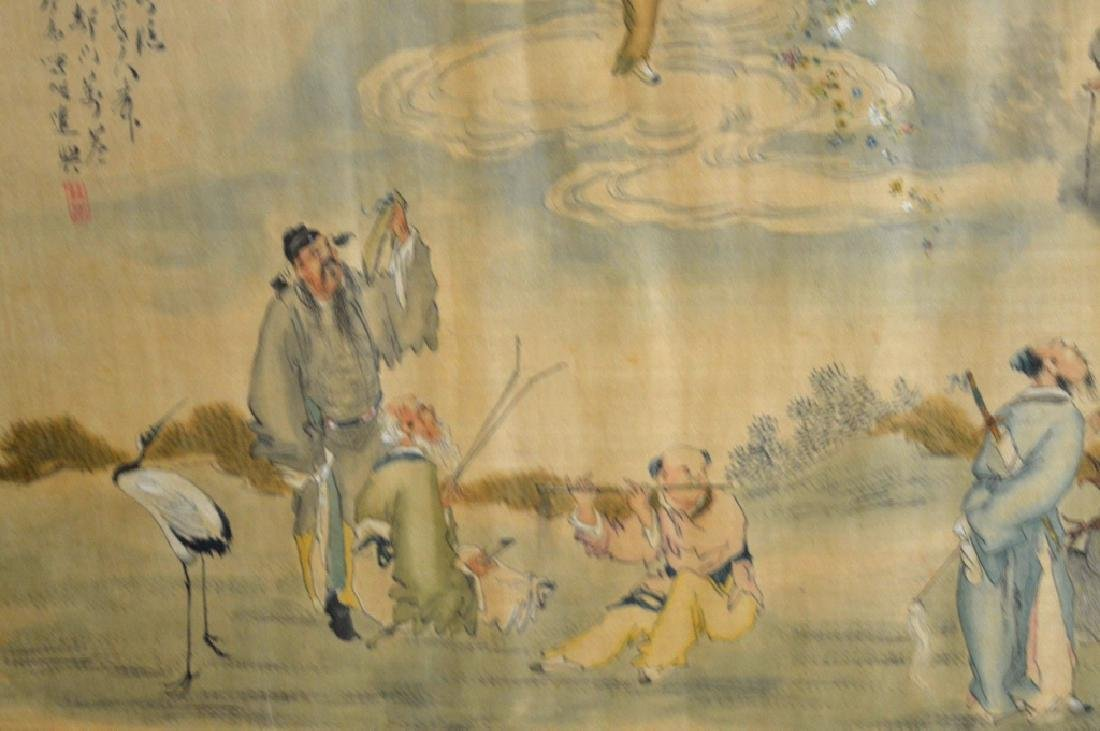 Chinese Painting on Silk of the 8 Immortals - 4