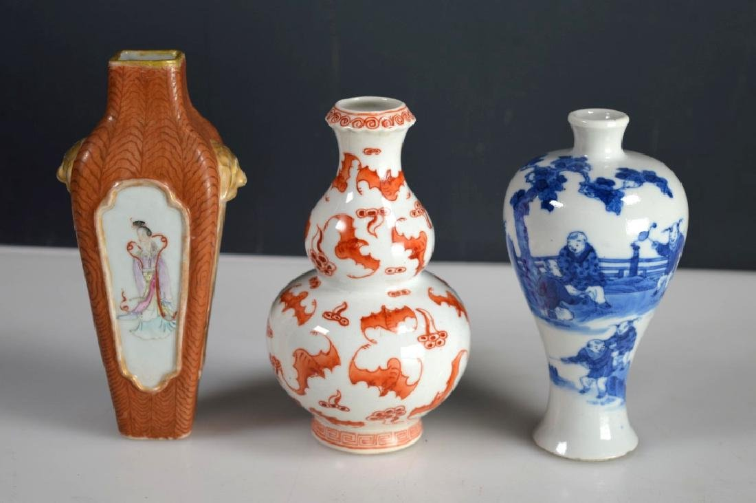 Antique chinese porcelain cabinet vases three antique chinese porcelain cabinet vases floridaeventfo Choice Image