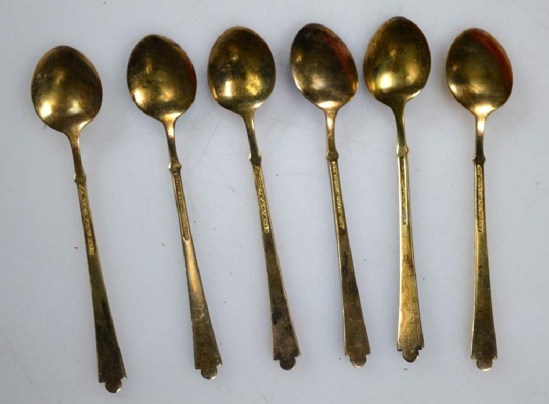 6 Ela Demitasse Danish Vermeil & Enamel Spoons - 4