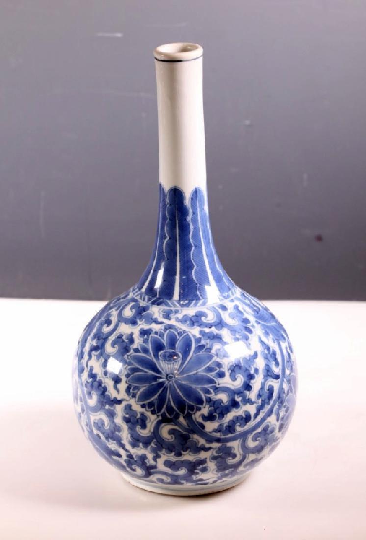 Fine Chinese Kangxi Blue & White Porcelain Vase