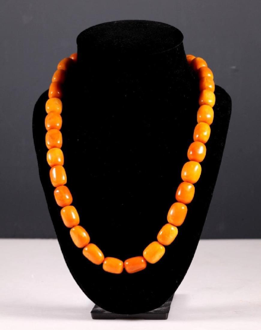 Butterscotch Amber Beads; 48.9G