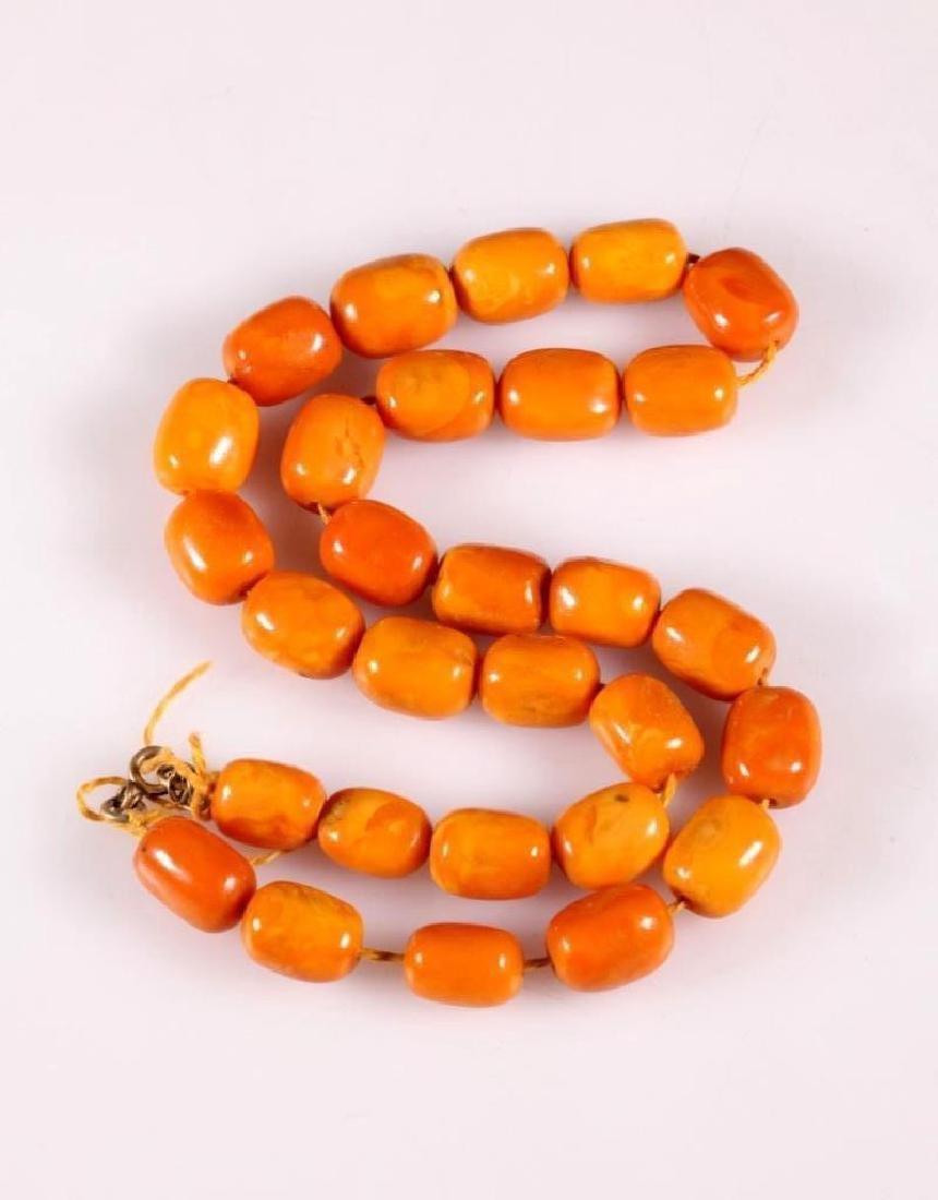 Butterscotch Amber Beads; 48.9G - 2