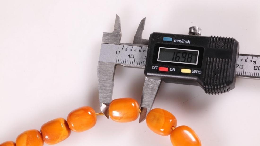 Butterscotch Amber Beads; 48.9G - 5