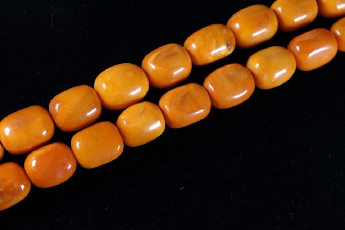 Butterscotch Amber Beads; 48.9G - 6
