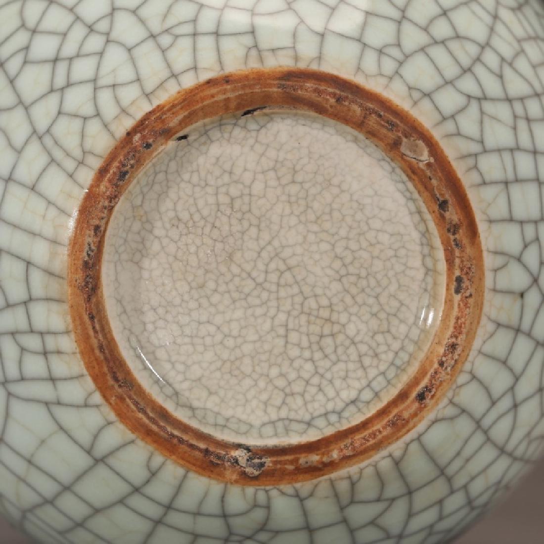 Chinese 19 C Guanyao Crackle Glaze Porcelain Jar - 4