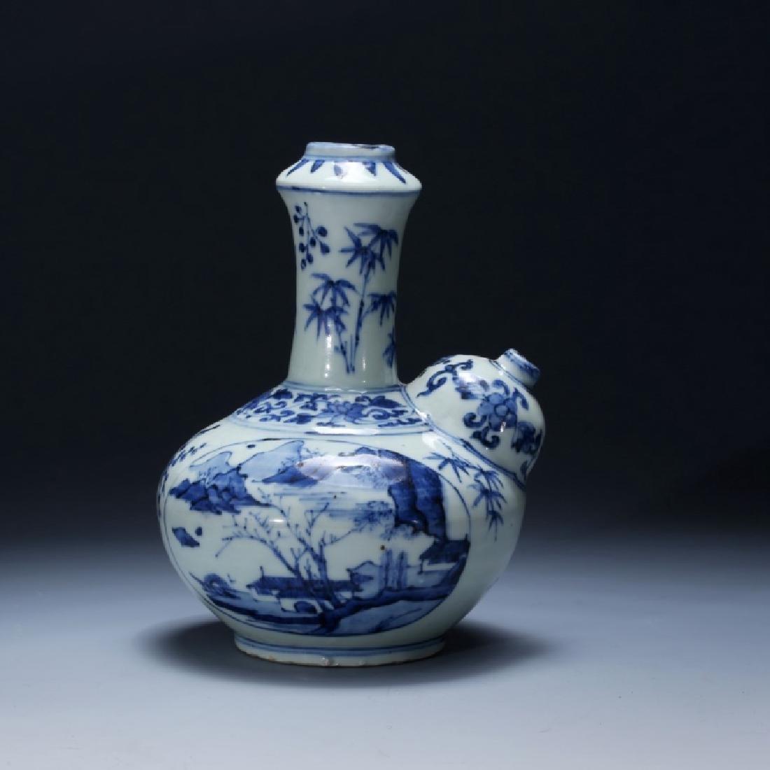 Chinese 17 C Underglaze Blue Porcelain Kendi
