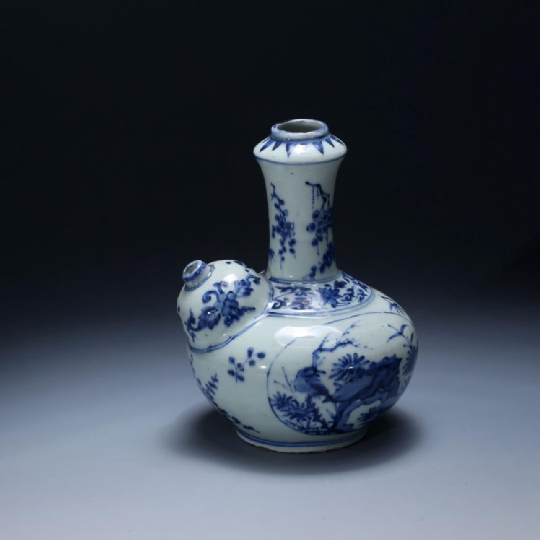 Chinese 17 C Underglaze Blue Porcelain Kendi - 2