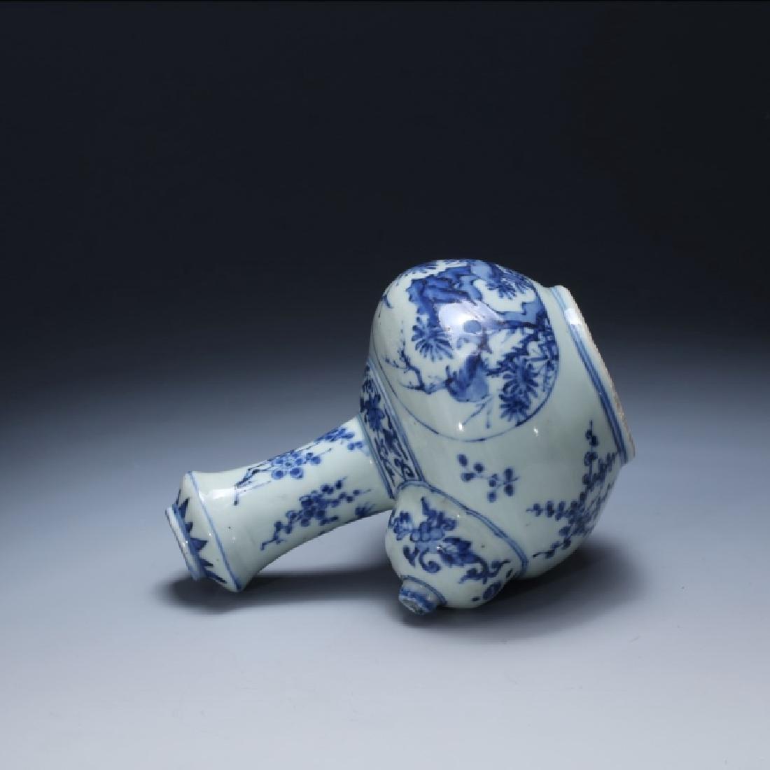 Chinese 17 C Underglaze Blue Porcelain Kendi - 3