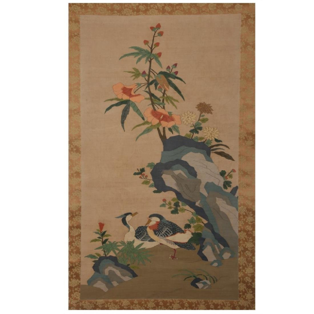 """Chinese Qing Dynasty Silk Kesi 'Tapestry Painting"""""""