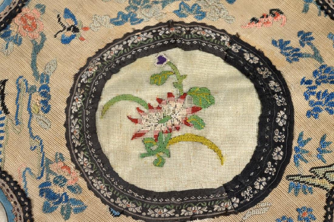 Chinese 18/19 C Silk Embroidered Cloud Collar - 3