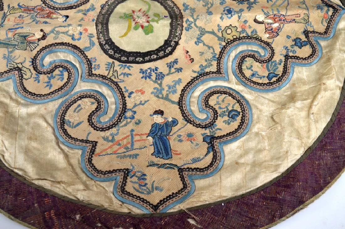 Chinese 18/19 C Silk Embroidered Cloud Collar - 4
