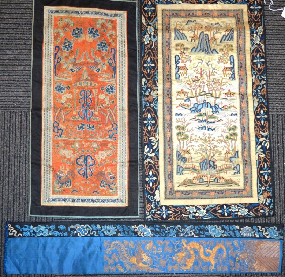Two Pairs + 1, 18/19 C Chinese Silk Sleeve Bands