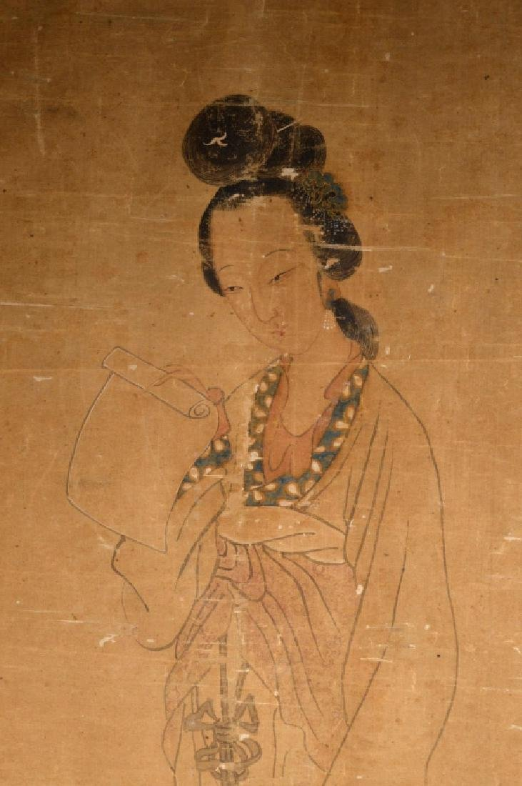 Antique Chinese Painting of Beauty on Silk - 2