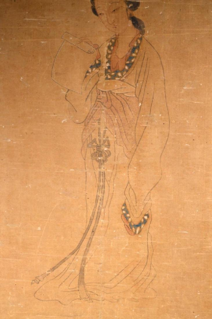 Antique Chinese Painting of Beauty on Silk - 3