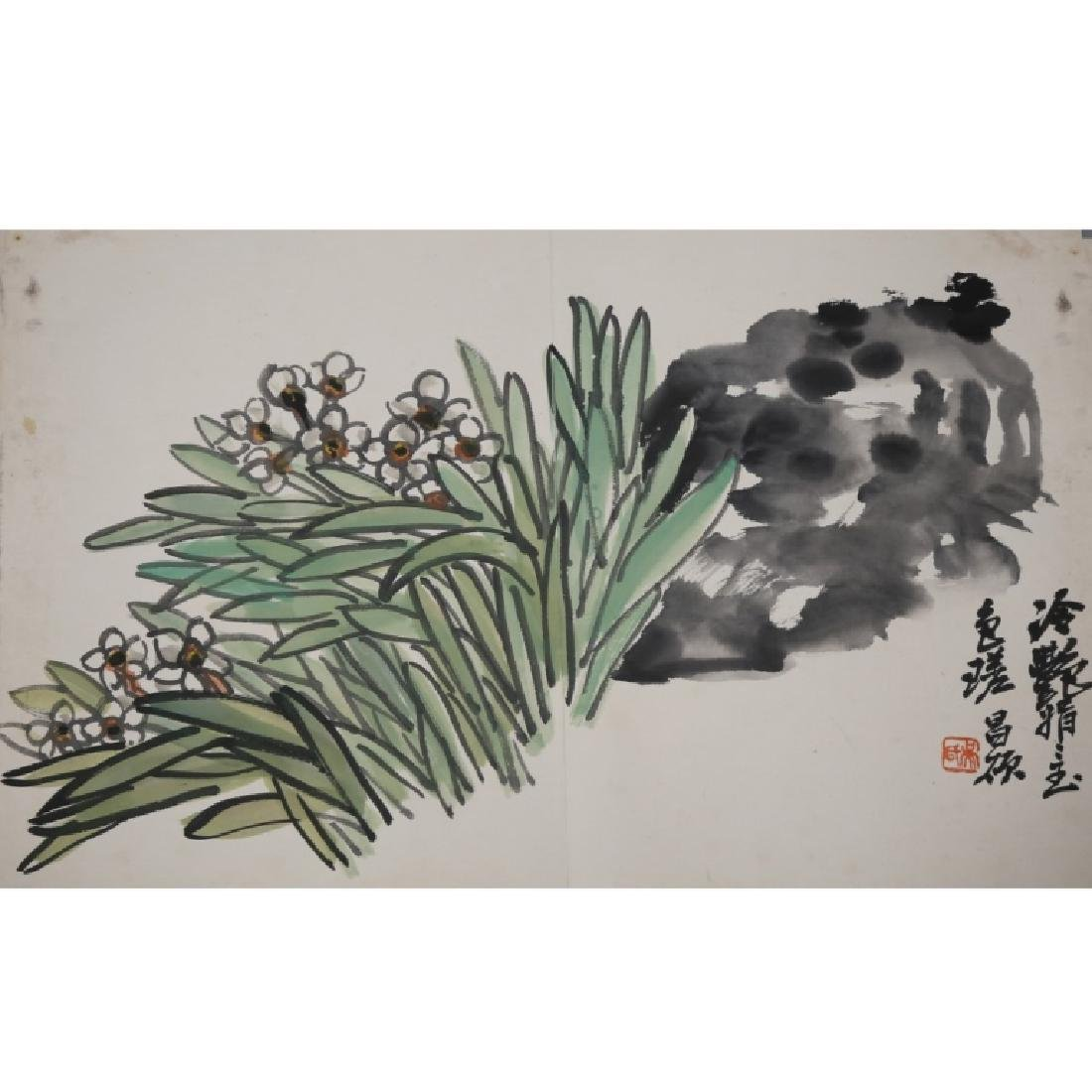 Wu Changshuo; Album 7 Paintings on Paper - 8