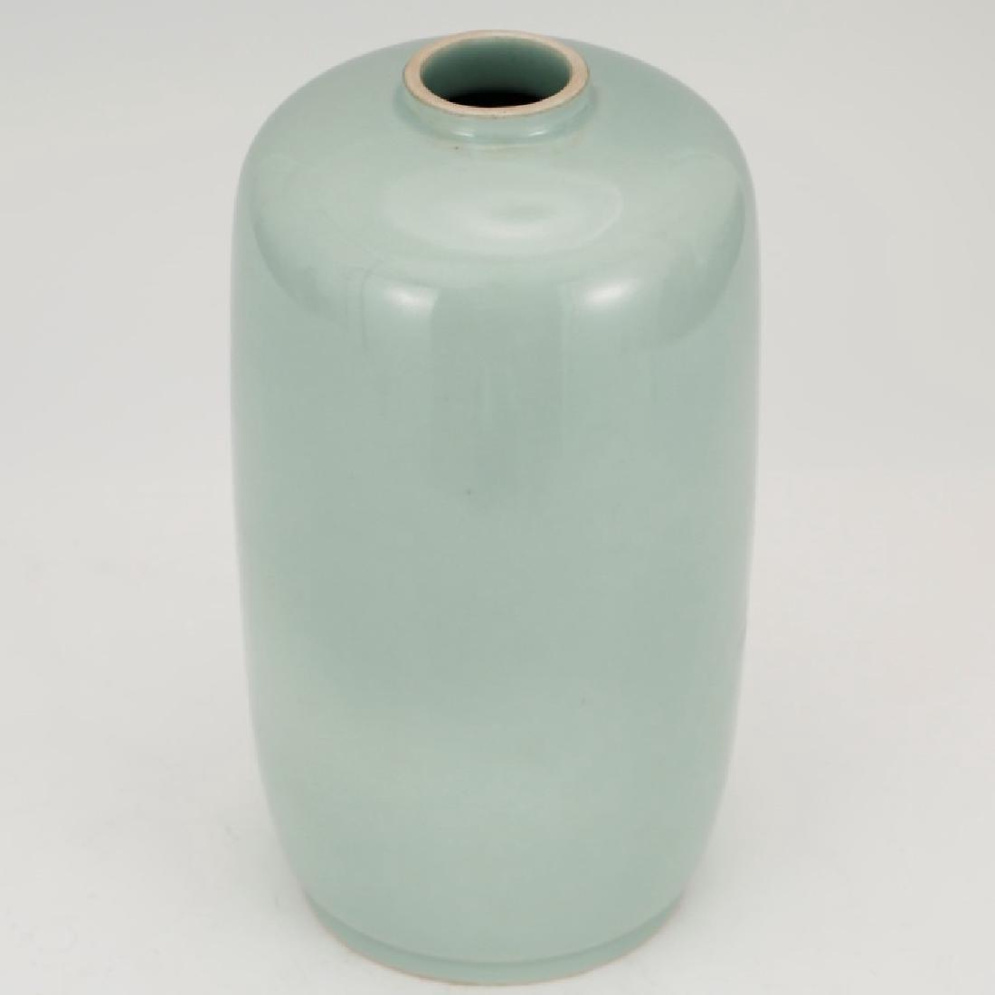 Fine Chinese Blue-Green Monochrome Vase