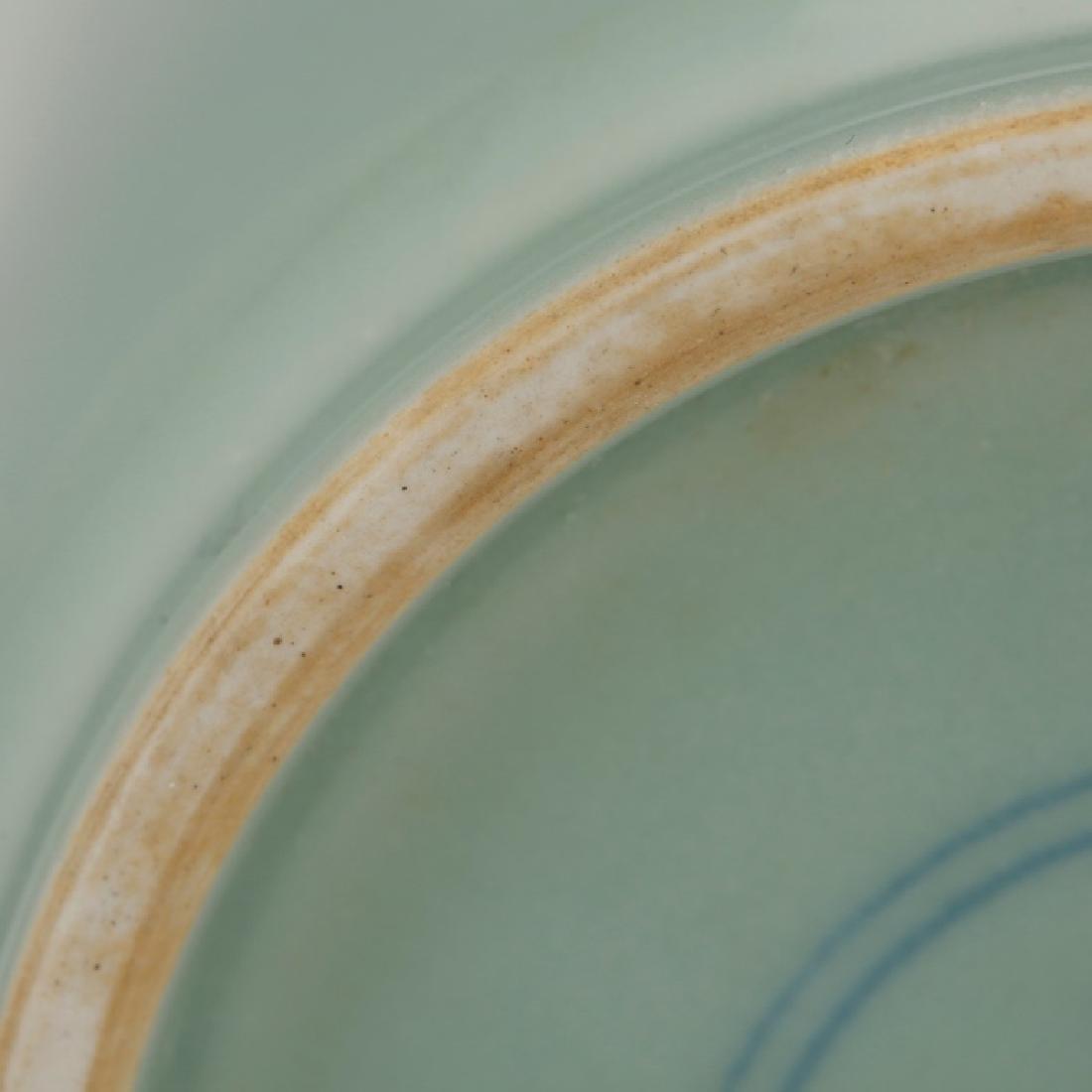 Fine Chinese Blue-Green Monochrome Vase - 6