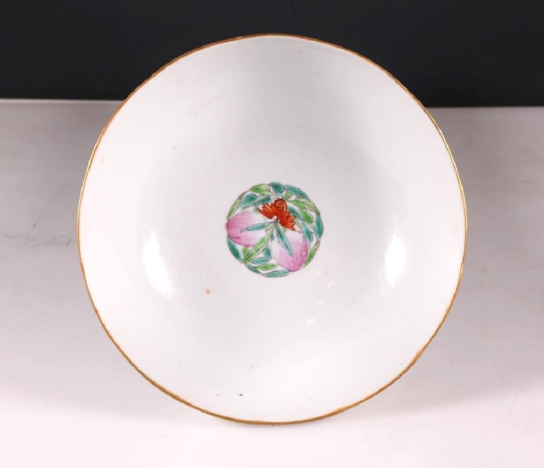 Chinese 19 C Famille Rose Porcelain Chicken Bowl - 4
