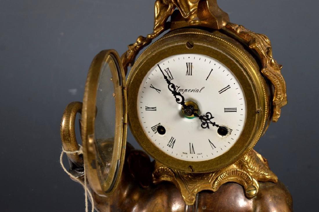 Cast Metal Elephant Chiming Clock - 3