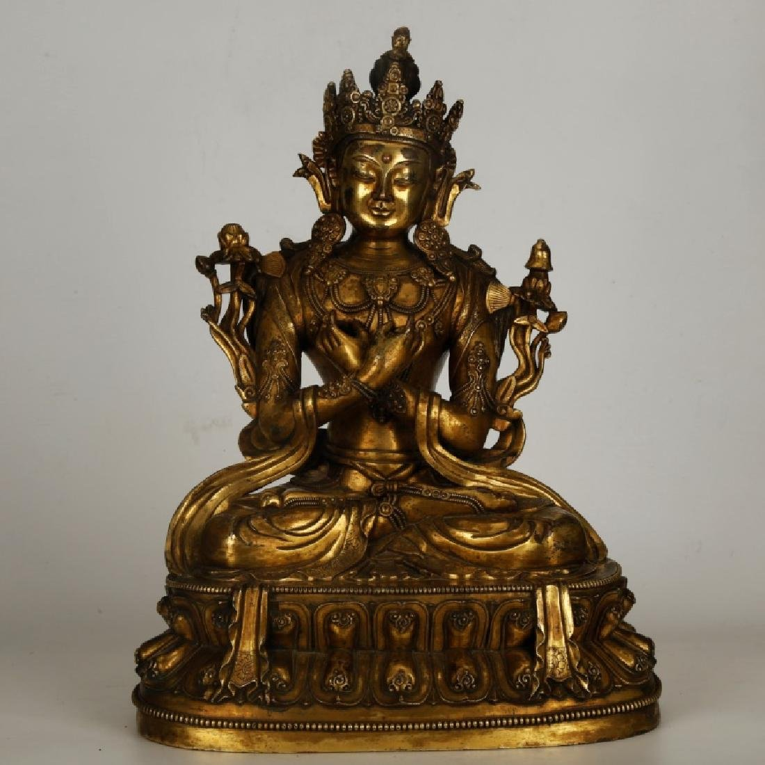 Tibetan Gilt Bronze Seated Buddha