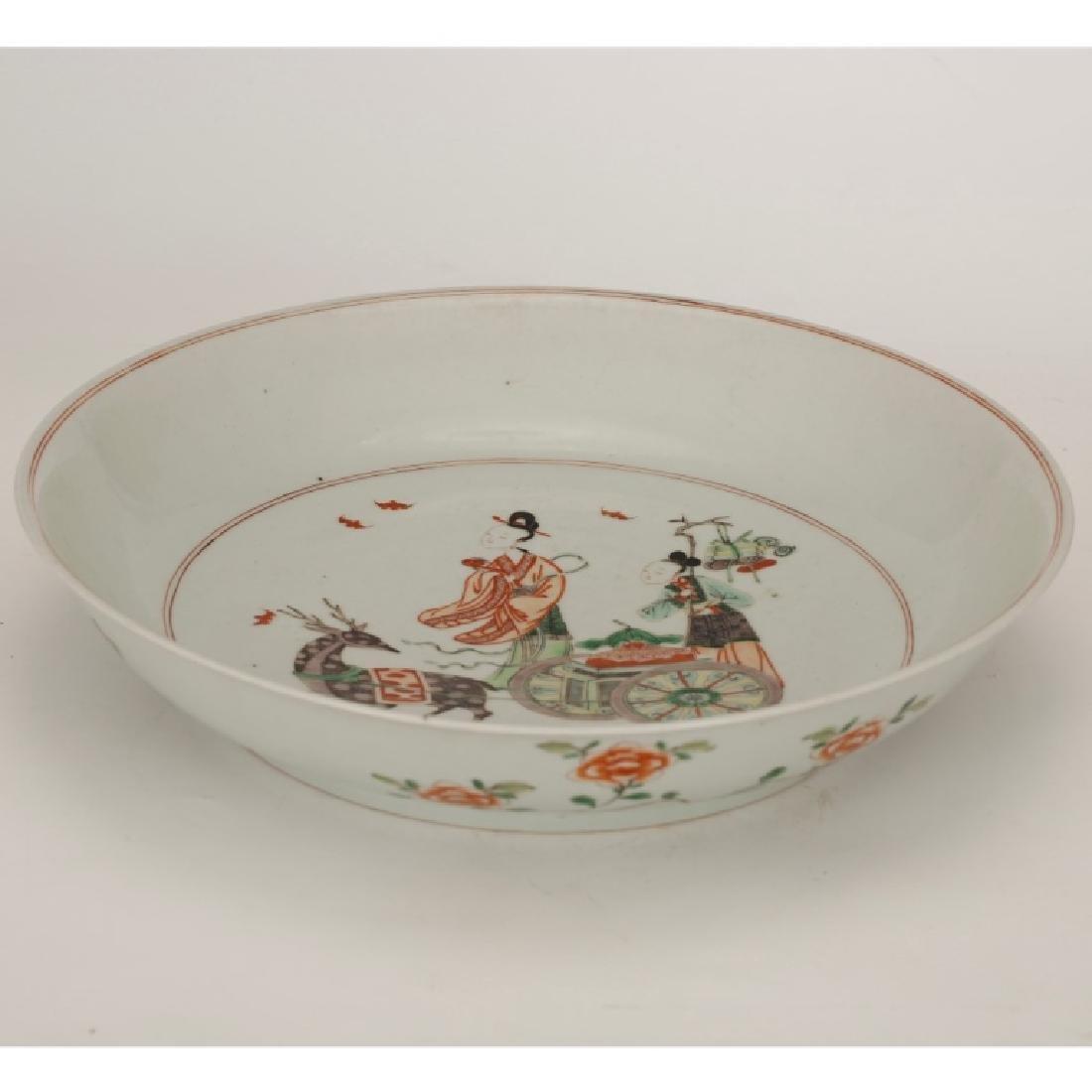Chinese Qing Porcelain Famille Verte Plate