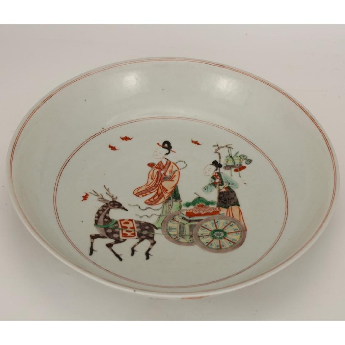 Chinese Qing Porcelain Famille Verte Plate - 2
