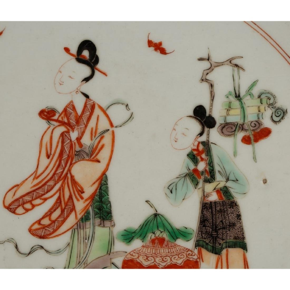 Chinese Qing Porcelain Famille Verte Plate - 3