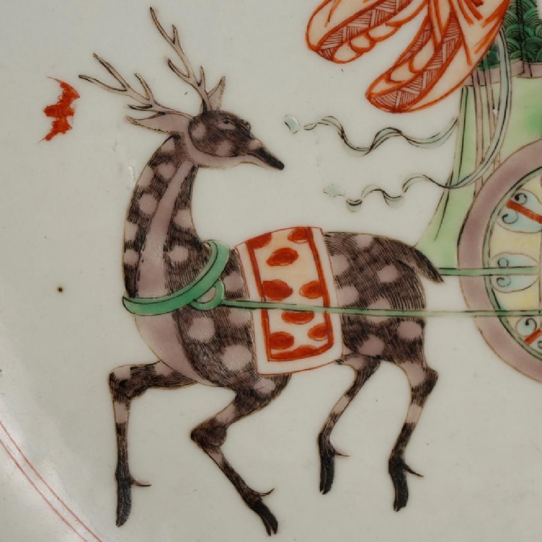 Chinese Qing Porcelain Famille Verte Plate - 4