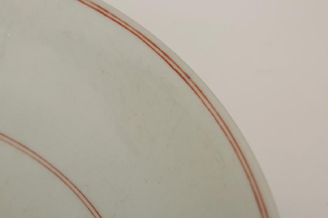 Chinese Qing Porcelain Famille Verte Plate - 5