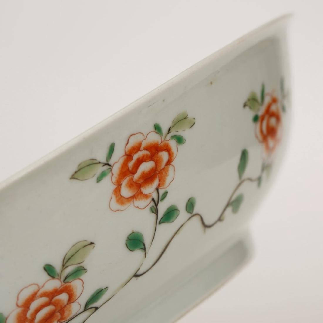 Chinese Qing Porcelain Famille Verte Plate - 6