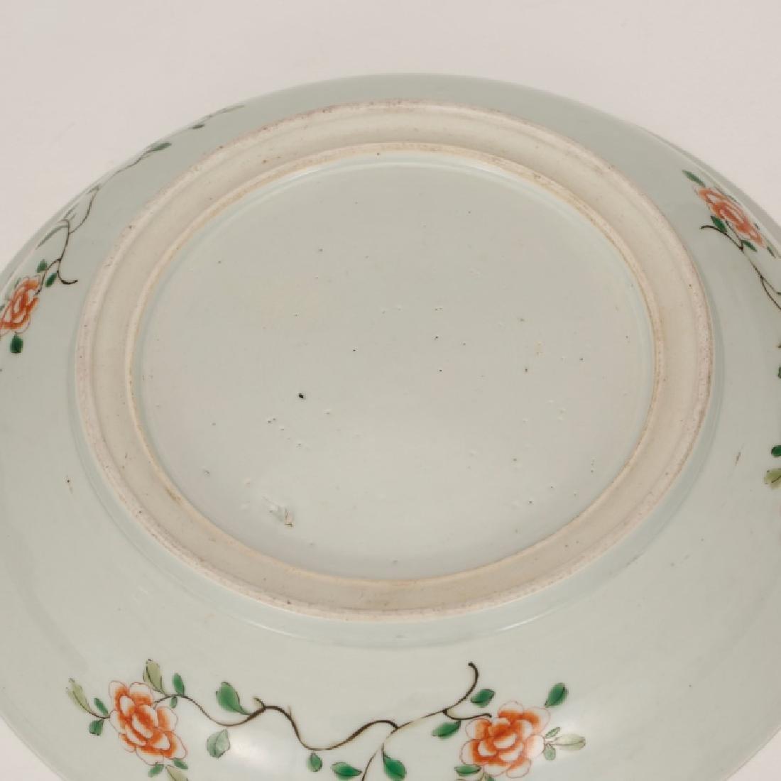 Chinese Qing Porcelain Famille Verte Plate - 7