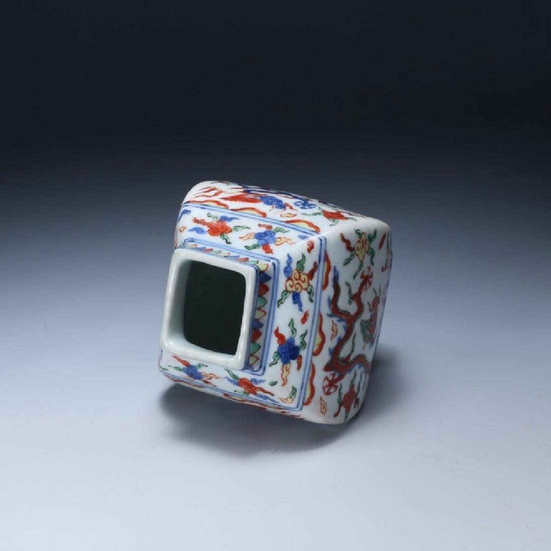 Chinese Qing Dynasty Wucai Porcelain Jar - 3