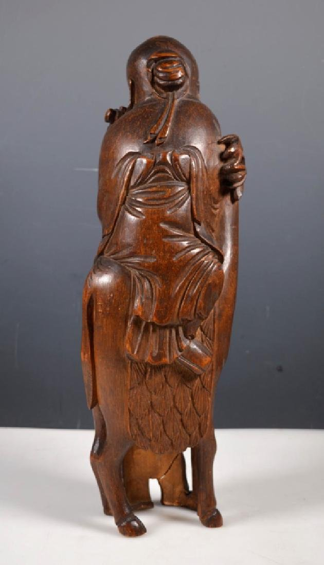 Large 19 C Chinese Shoulao Bamboo Carving - 4