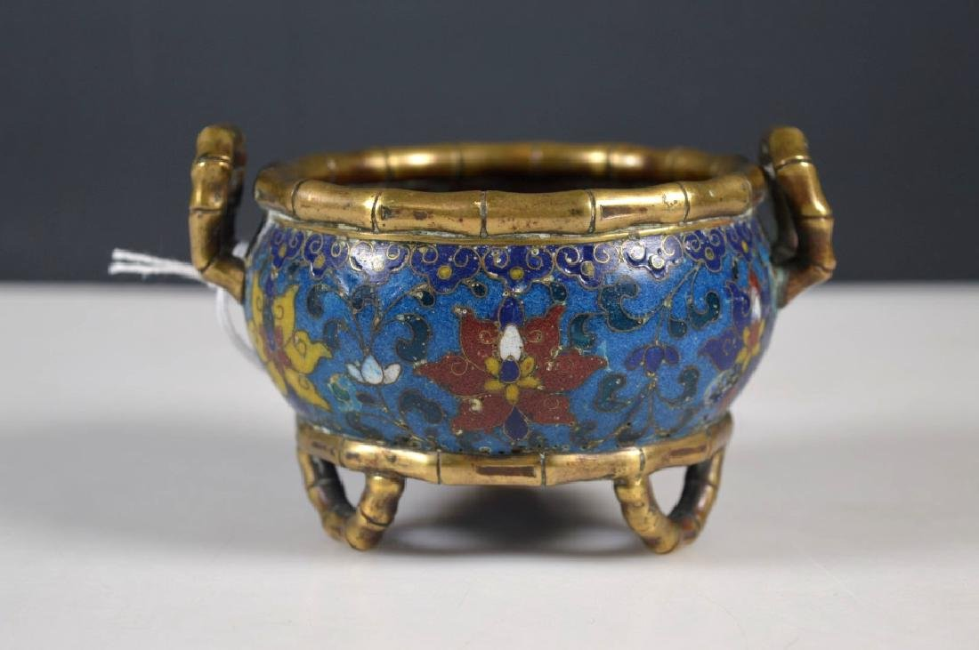 Chinese Cloisonne & Gilt Bronze Censer