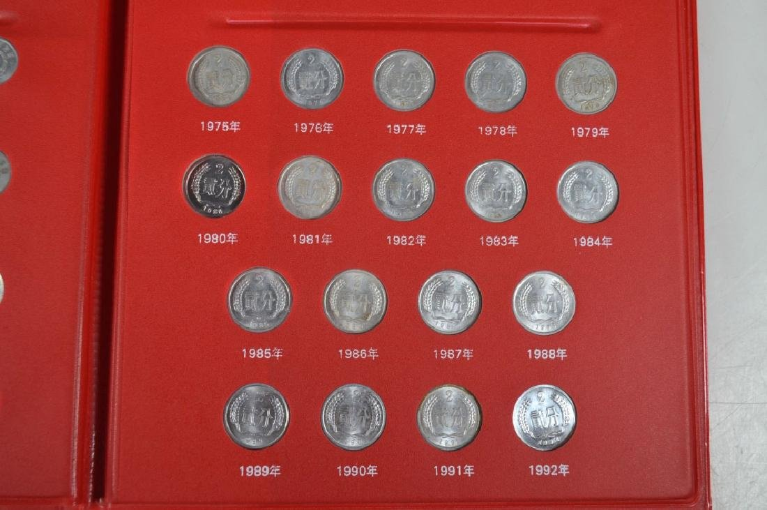 Chinese Metal Coins 1955-2015 in Folder - 6