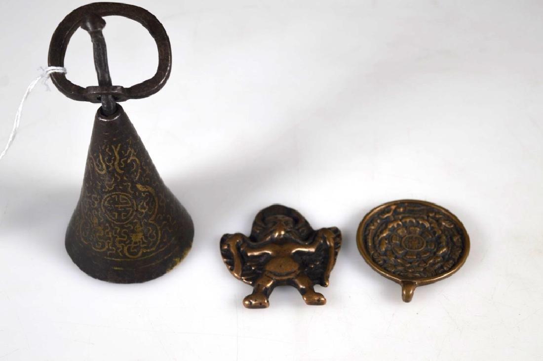 Three Old Tibetan Metal Objects