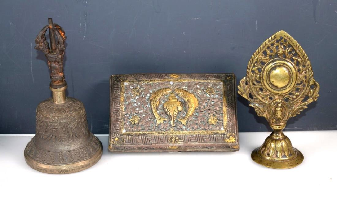 Two Tibetan Votive Objects; One Indian