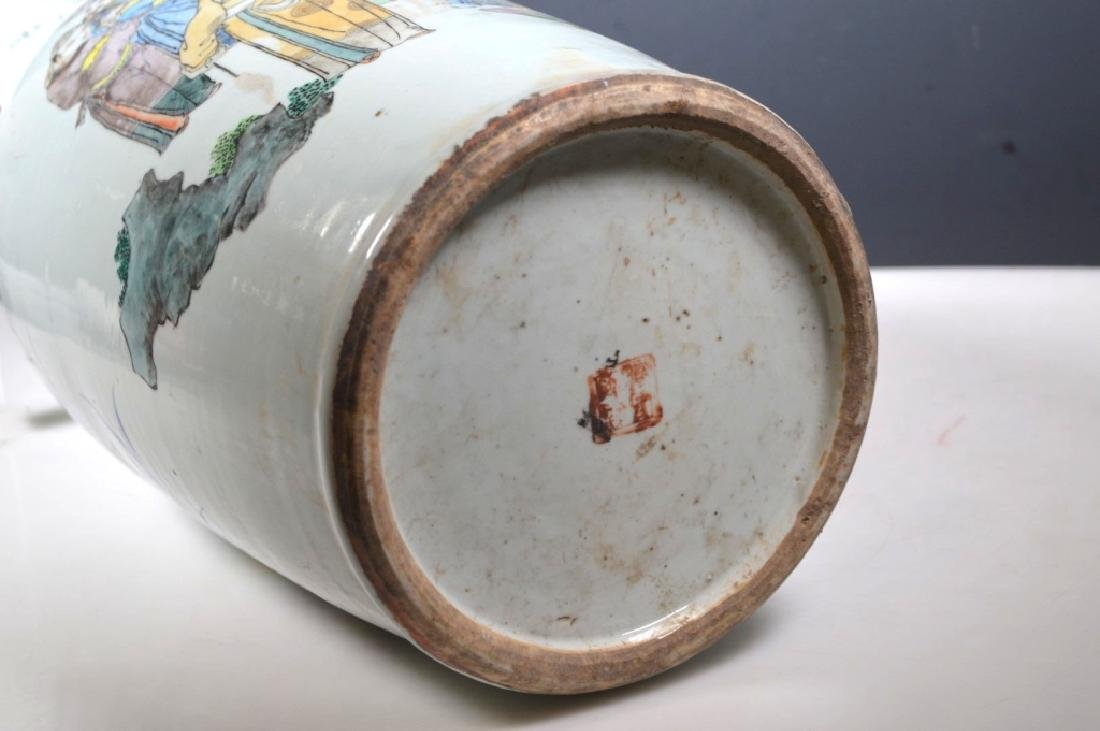 Two Large Chinese Enameled Porcelain Vases - 9