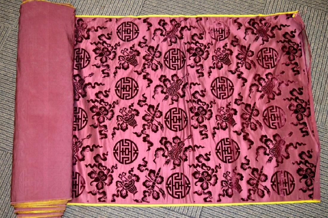 Lg Bolt Fine Chinese Voided Silk Velvet Purple-Red
