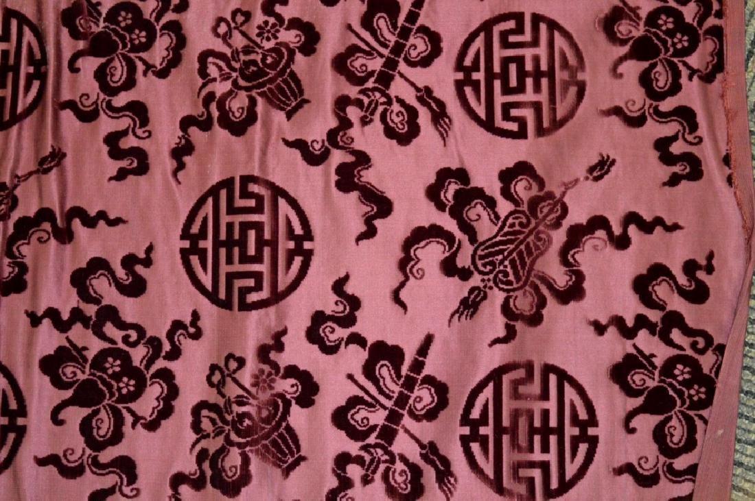 Lg Bolt Fine Chinese Voided Silk Velvet Purple-Red - 2