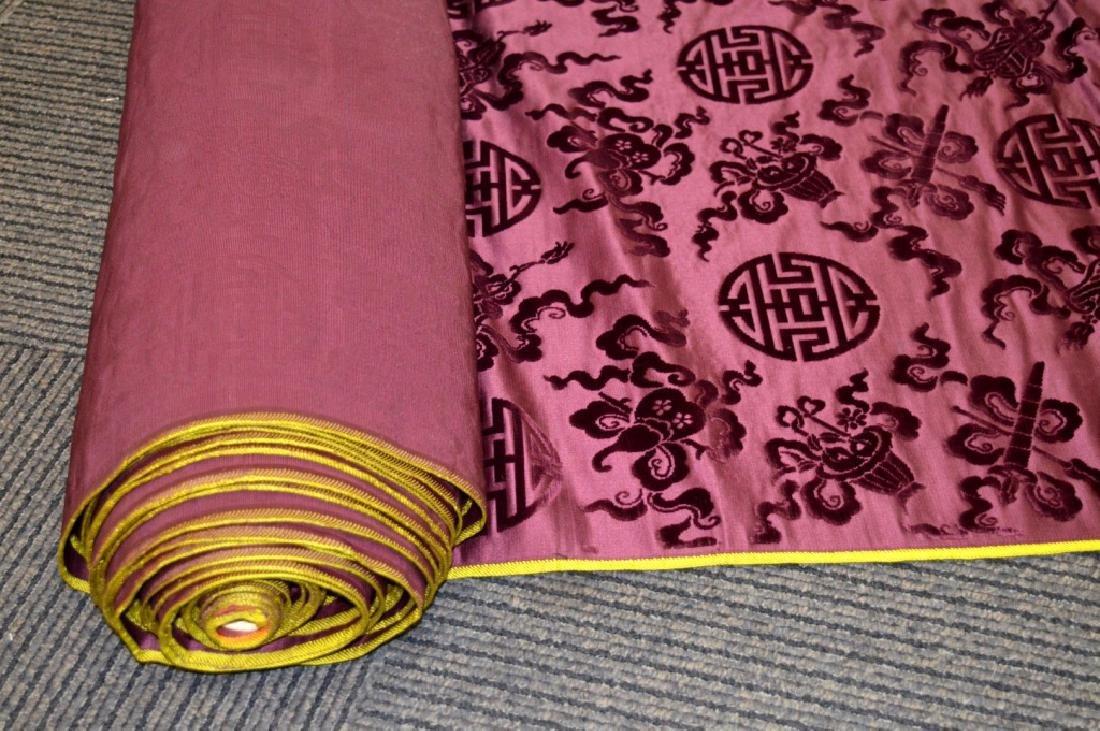 Lg Bolt Fine Chinese Voided Silk Velvet Purple-Red - 3