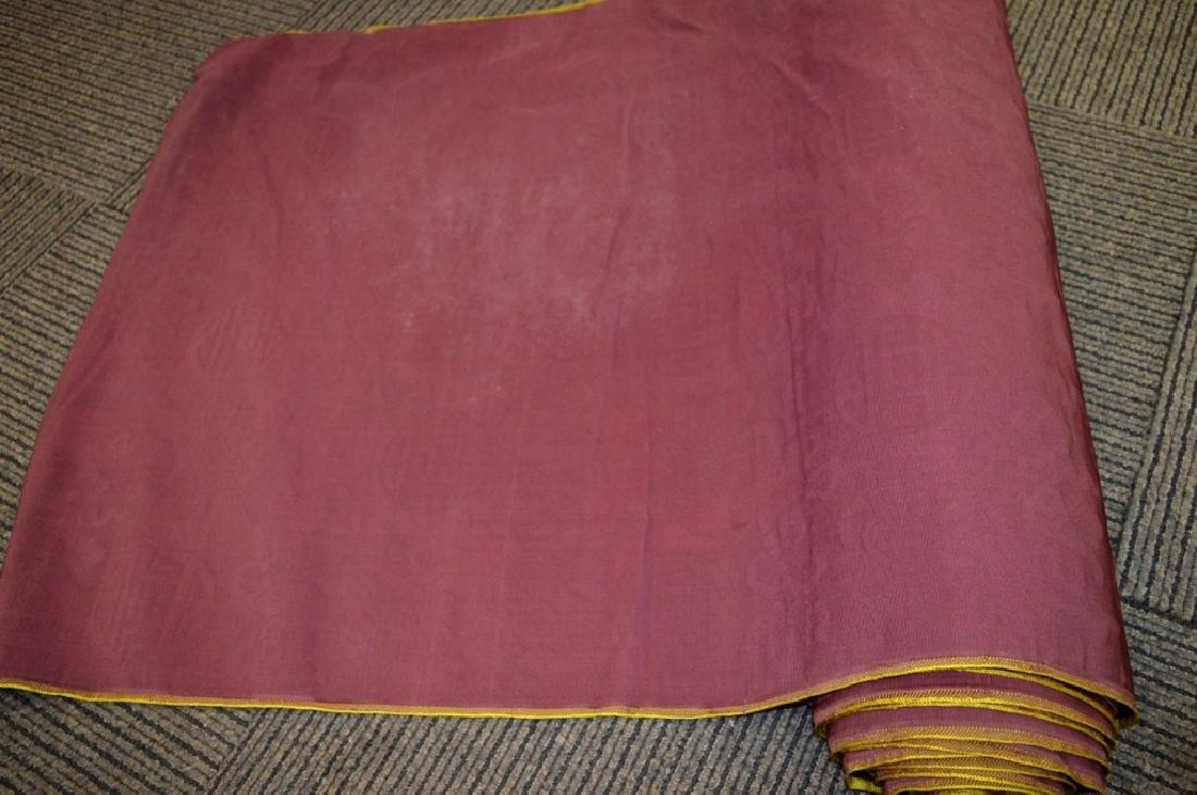 Lg Bolt Fine Chinese Voided Silk Velvet Purple-Red - 5