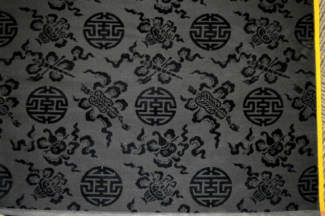 Bolt Fine Chinese Voided Silk Black Velvet; 410in - 2